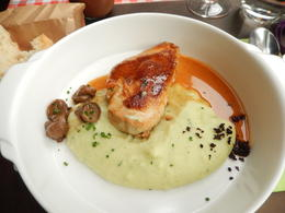 roasted chicken breast with mashed potatoes with herbs , Nidale T - June 2014