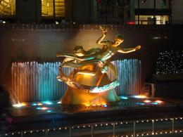 the statue where the ice rink is - May 2010