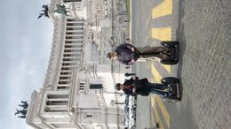 Bee and Aaron on the first stop of the Rome Segway Tour. , Belinda D - May 2016