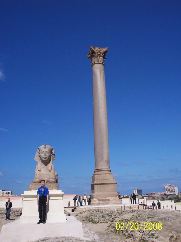 Sphinx and Column - Cairo