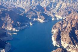 View of the narrows at Lake Mead from the helicopter , Douglas H - November 2014