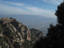 View of Montserrat from a walking trail , Richard C - March 2012