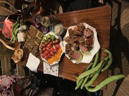 Our lunch spread made up of all the items Marion bought along the way , Sarah J - June 2017