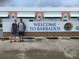 Barbados welcome sign , tnyankfan - July 2016