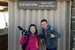 Over 10,000 feet!, Jules & Brock - September 2012
