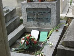 Inside the Pere LaChaise cemetary in Paris. It's best to look up directions to his grave site beforehand so you know where you're going otherwise you'll be wandering around for awhile. - September 2009