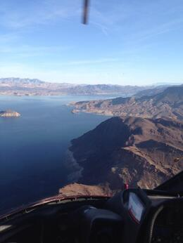 Nice view of Lake Mead on our way out to the Canyon, Krystal W - March 2014