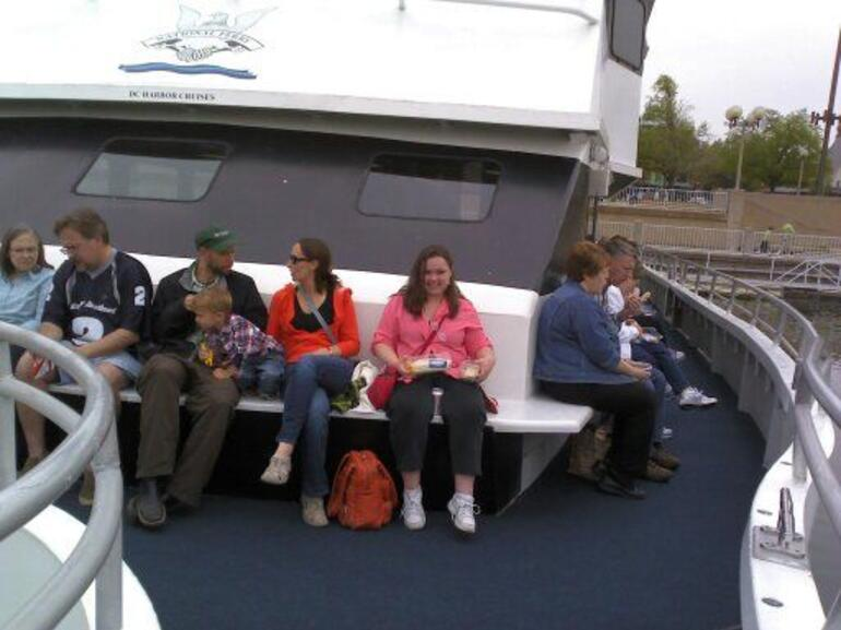 lunch on the boat - Washington DC