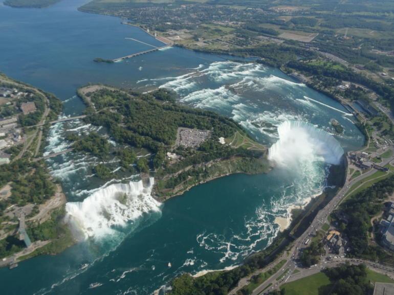 Niagara Falls Fom the Helicopter - Toronto