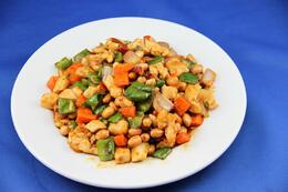 Stir-fried chicken with peanuts and diced bamboo - May 2012