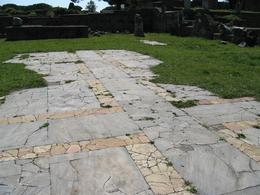 This is a remnant of original ancient stone flooring., Gail A - March 2009
