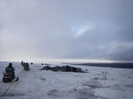 Snowmobiling on the glacier, Reykjavik - November 2011