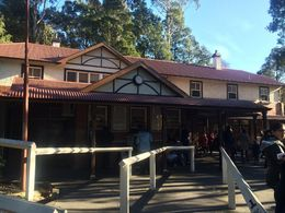This is the adorable Puffing Billy Train Station where we boarded the train for our ride through the Dandenong Ranges. , Kelly S - June 2016