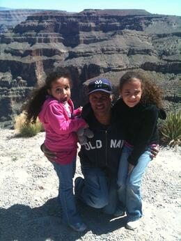 Posing in front of the majesty of the Canyon, Travel Mom - May 2012