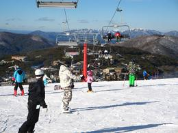 Views across valley of Mt Buller slopes. - June 2010