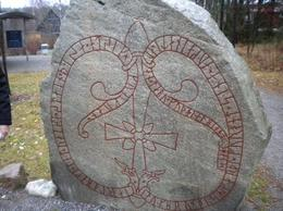 Steinthor gives a good account of what the runes on these stones mean., Mark P - November 2009