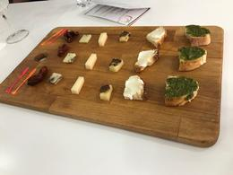 Tasting of different cheeses, vinegars, and bread. , rockyz1980 - July 2017