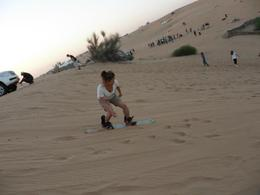 sandboarding in the desert , Andrina O - January 2013
