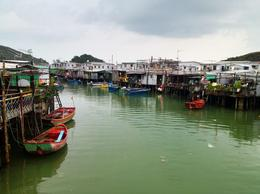 Tai O fishing village, Asha & Brock - July 2013