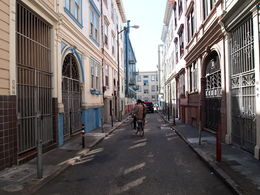 Back alleys of North Beach, Rachel - April 2015