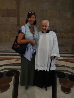 myself and Father Alex!! , Joneva R - June 2013