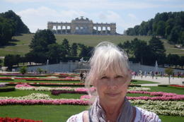 In front of the impressive Shonbrunn gardens. Gail White , Gail W - August 2011