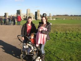 Our family at Stonehenge: We had beautiful weather, despite it being November. The sidewalk completely circles the site so there are plenty of views to view the arrangement and take pictures. , Charlotte P - November 2012