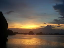The sunset over Halong Bay seen from the sun deck. , Virginia O - August 2013