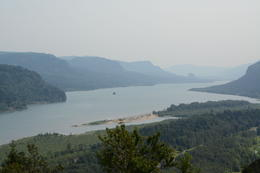 A great view of the river from the first stop-The Vista House , Rebecca W - August 2014