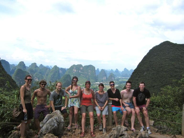 View over karst peaks - Guilin