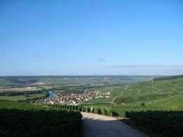 Typical vineyards and village around Marne River in Champagne, Peter M - September 2009