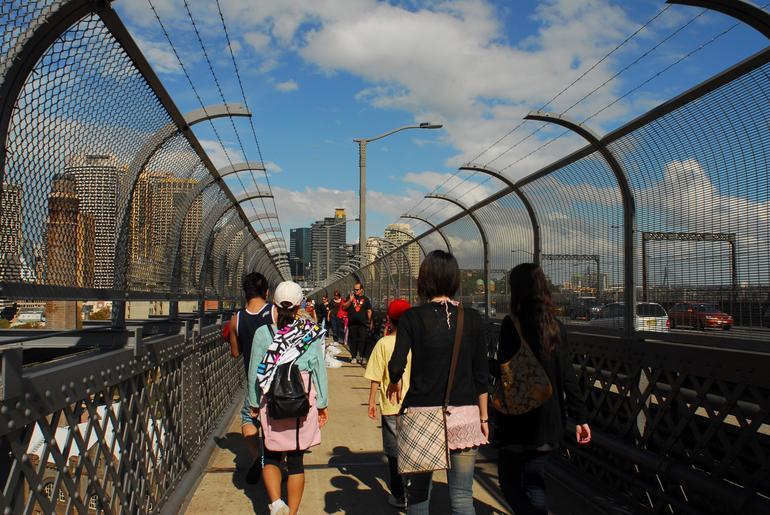 Walking over the Bridge - Sydney