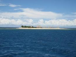 The view of our approach to Schooner Island., Katherine L - December 2008