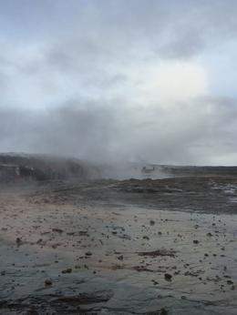 Geysir area with multiple geothermal wells , Kamryz - February 2017