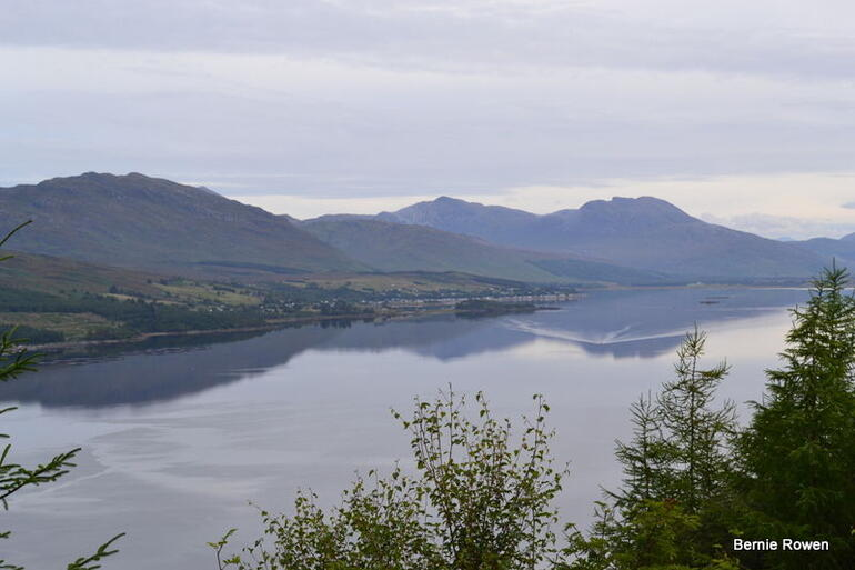 A loch between Kyleken and Ullapool in the Scottish Highlands -