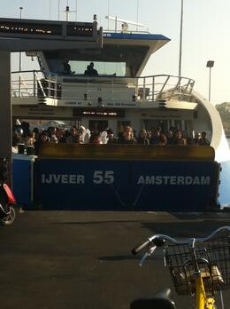 Waiting for the ferry behind Amsterdam Centraal..., Dominique - September 2011