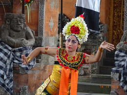 the Dancer during the Barong dance performance , satish chandra - November 2014
