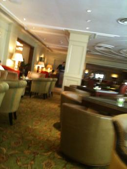 The gorgeous tea room at the Grosvenor House Hotel, Travel Mom - July 2011