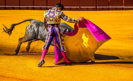 Bullfight at Plaza de Toros, Sevilla - the colors are this vivid! , John F - May 2014