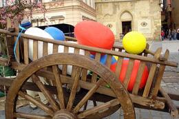 Huge cart full of colorful eggs, World Traveler - October 2010