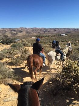 This is us heading back to the ranch after an hours trek! Highly recommend!! , Carrie&Bob - January 2016