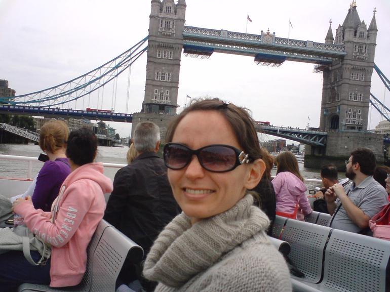 My mate on the boat, Thames river cruise