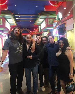 Myself and wife with the four most funniest guys I have met and seen on stage. Great guys that make you feel at home. This is great for an adults night out when you at Sin City. , Ivan - June 2016