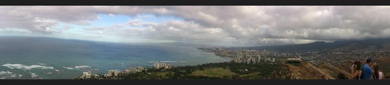 Panoramic view from the Diamond Head Crater - Oahu