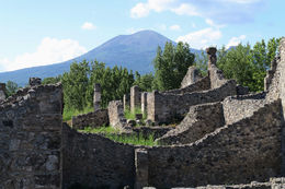 Pompeii - looking up to Vesuvius , Peter K - June 2016