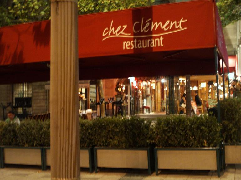 Restaurant on the Champs Elysees - Paris