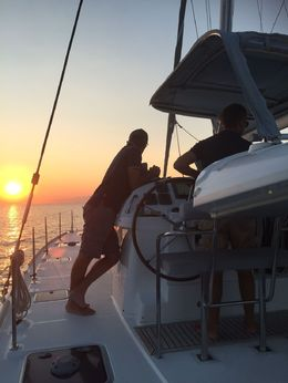 Sunset on board, MarkJ - June 2016