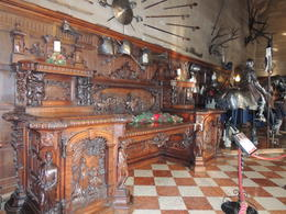 Commissioned in 1851 as an example of British craftsmanship, the Buffet depicts the love story between Queen Elizabeth I and Robert Dudley, Earl of Leicester. , Caroline J - December 2013