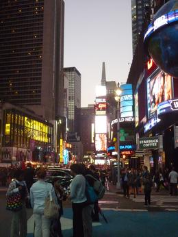 Early evening in Time Square, Christopher M - October 2010