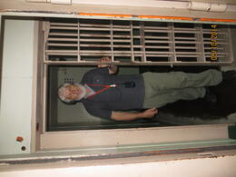 Peter posing in the cell. , Peter C - October 2014